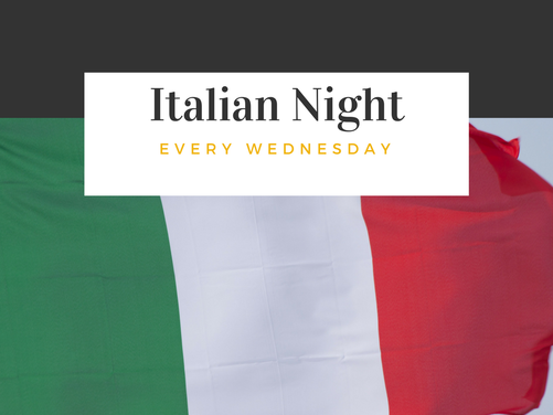 Italian Night Dining Experience on Wednesdays at Allyn's Cafe