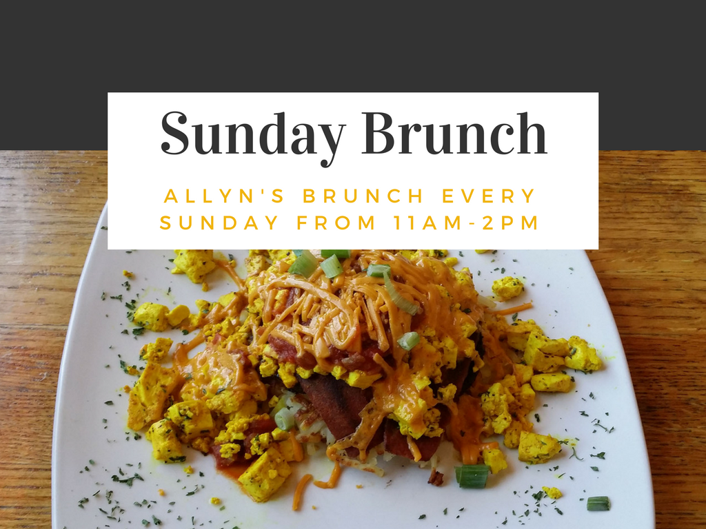 New Orleans Style Sunday Brunch at Allyn's Cafe, Vegan Options Too